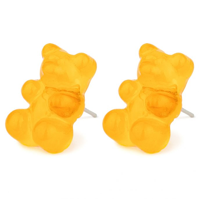 Stud Earring Gummy Bear Made With Acrylic & Iron by JOE COOL