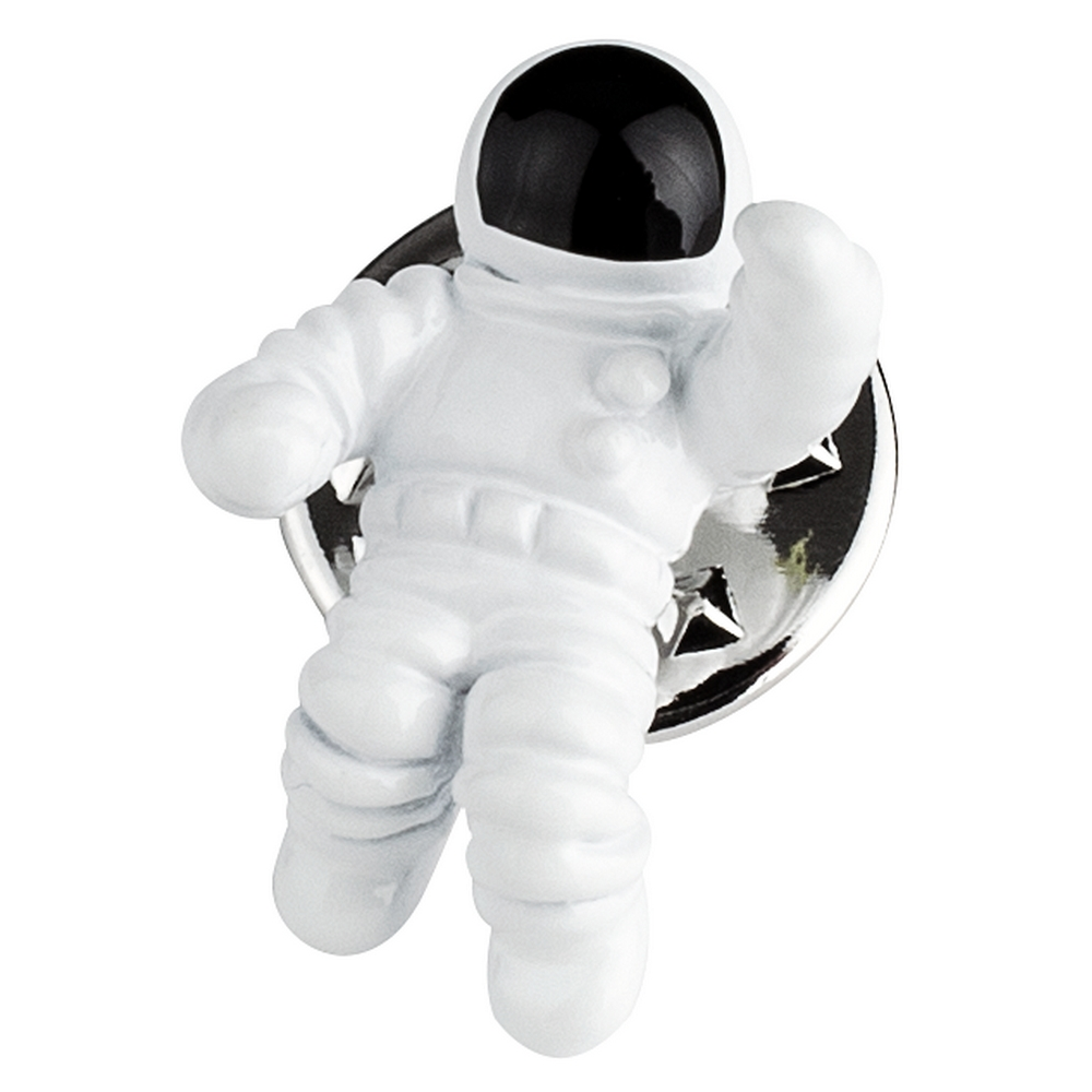 Clutch Pin Brooch 3d Astronaut Made With Enamel by JOE COOL
