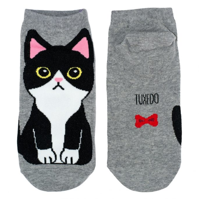 Socks Ankle Tuxedo Cat Made With Cotton & Spandex by JOE COOL
