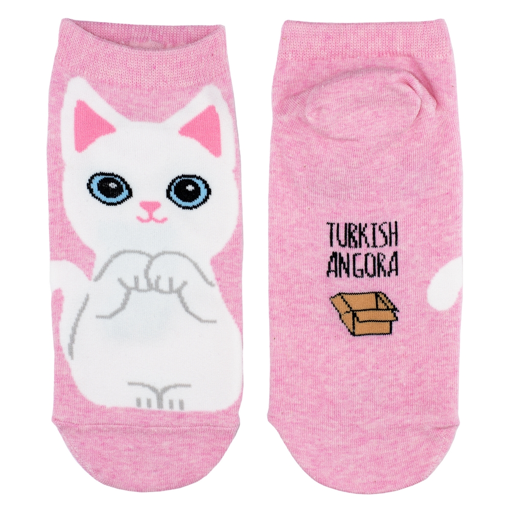 Socks Ankle Turkish Angora Cat Made With Cotton & Spandex by JOE COOL