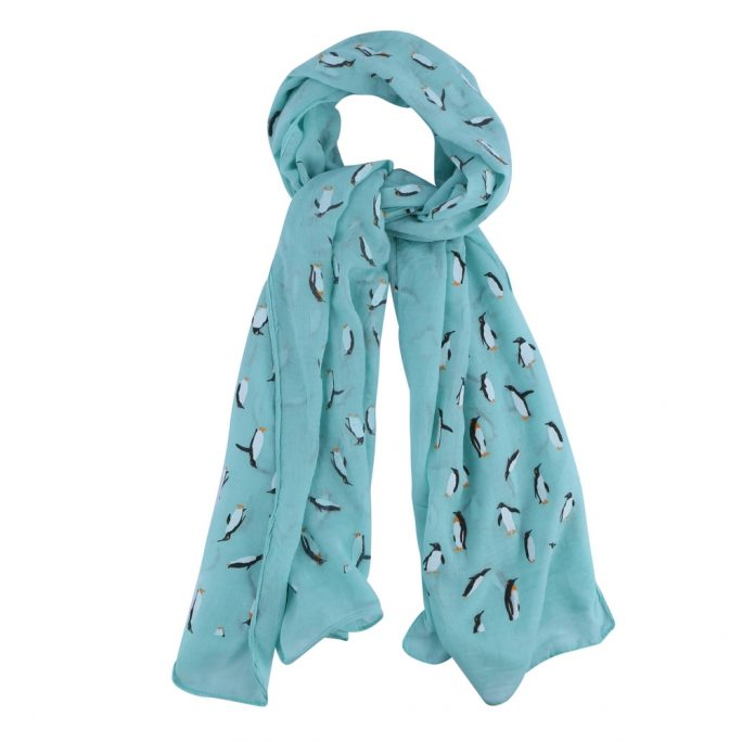 Scarf March Of The Penguins Made With Polyester by JOE COOL