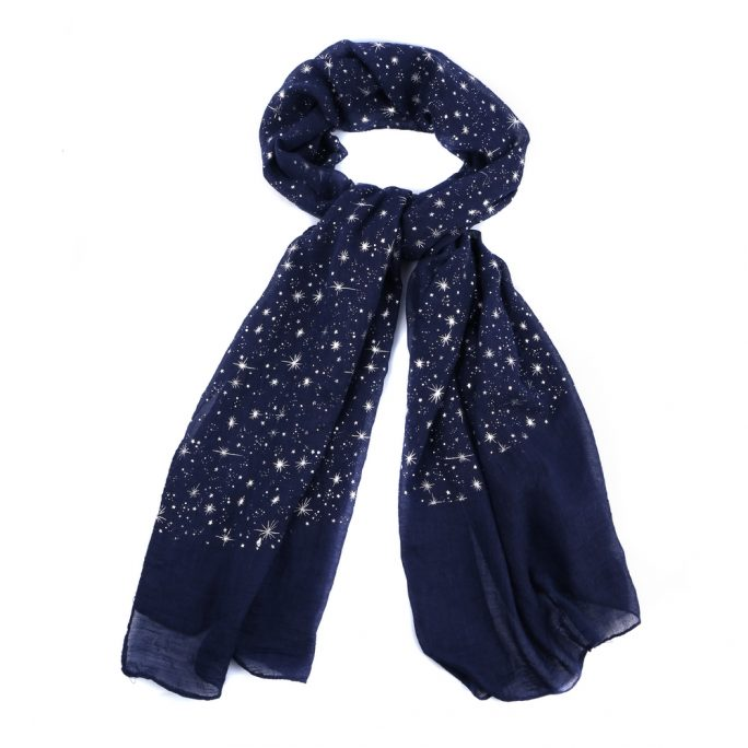 Scarf In The Night Sky Made With Polyester by JOE COOL