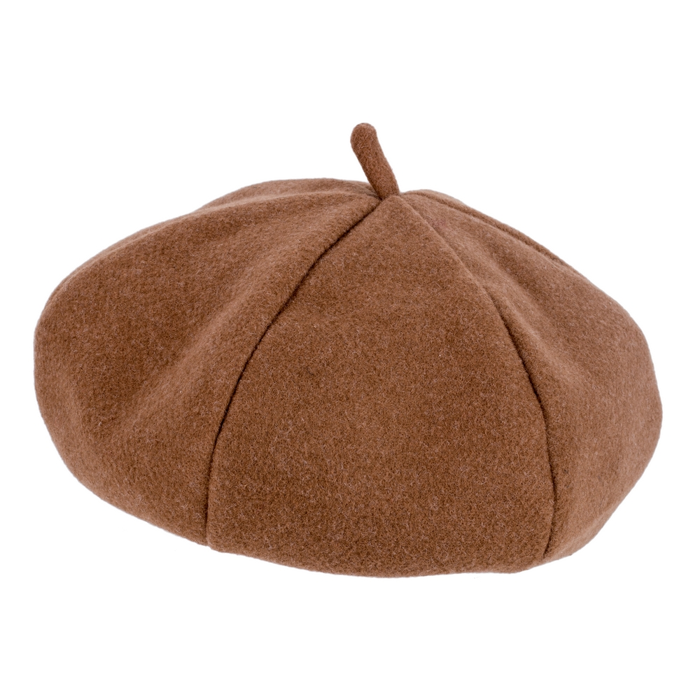 Hat Camel Segmented Beret Made With Felt by JOE COOL