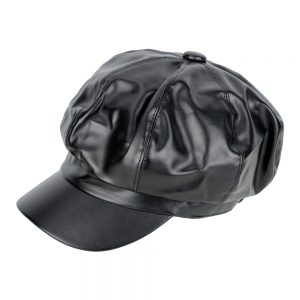 Hat Baker Boy Made With Faux Leather by JOE COOL
