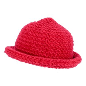 Hat Scarlet Roll Brim Knit Made With Acrylic by JOE COOL