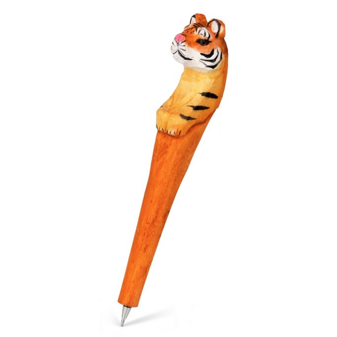 Pen Tiger Made With Wood by JOE COOL