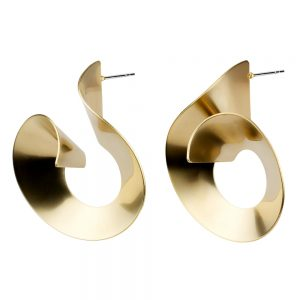 Stud Earring 3d Spiral Made With Tin Alloy by JOE COOL