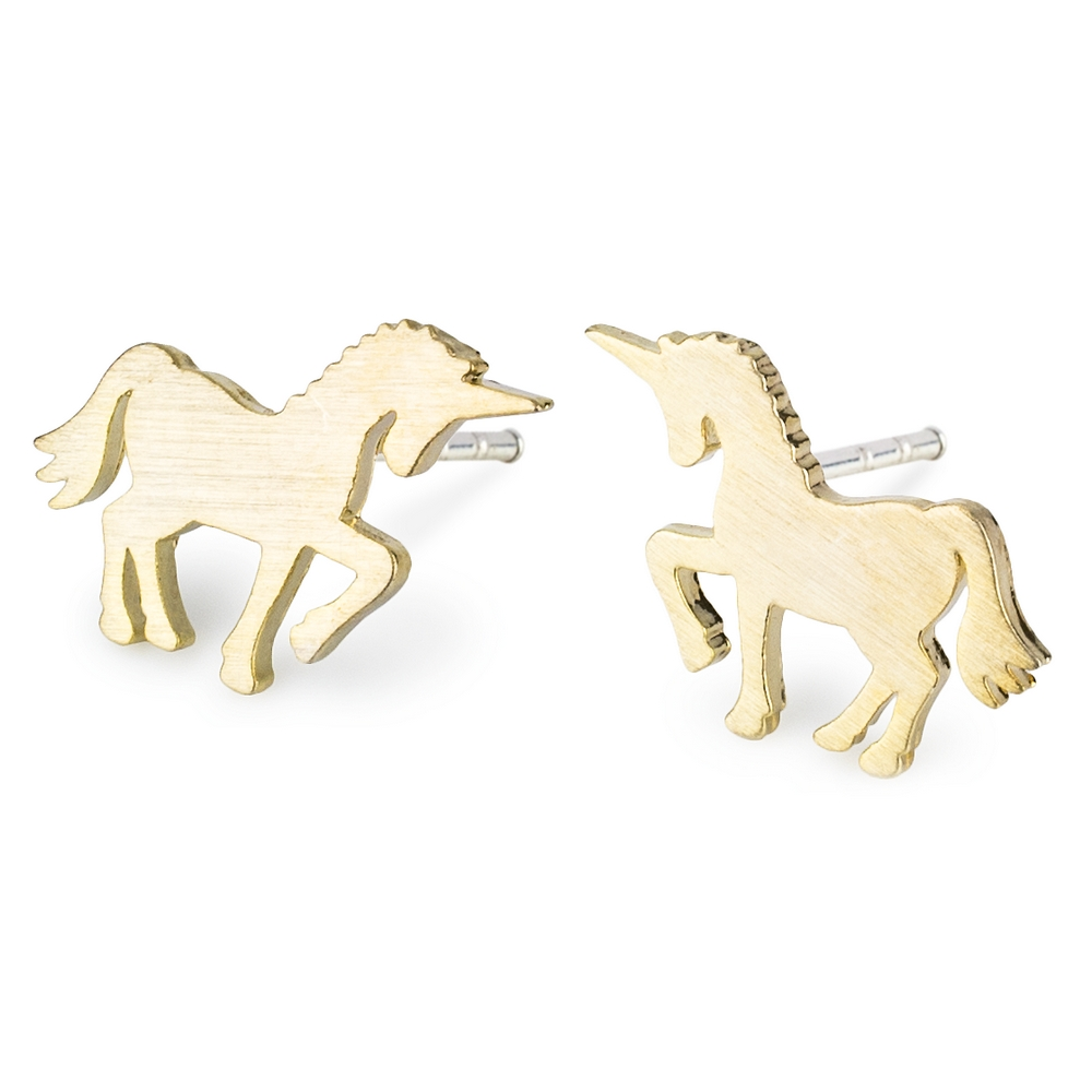 Stud Earring Unicorn Made With Tin Alloy by JOE COOL