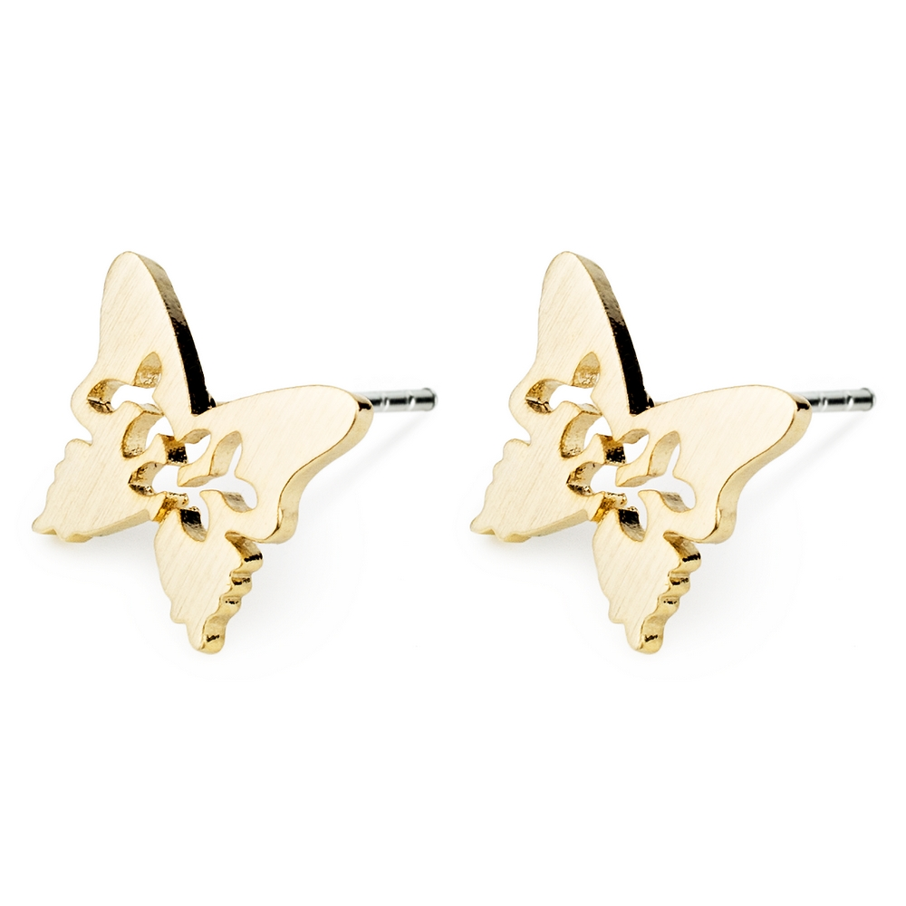 Stud Earring Butterfly Made With Tin Alloy by JOE COOL