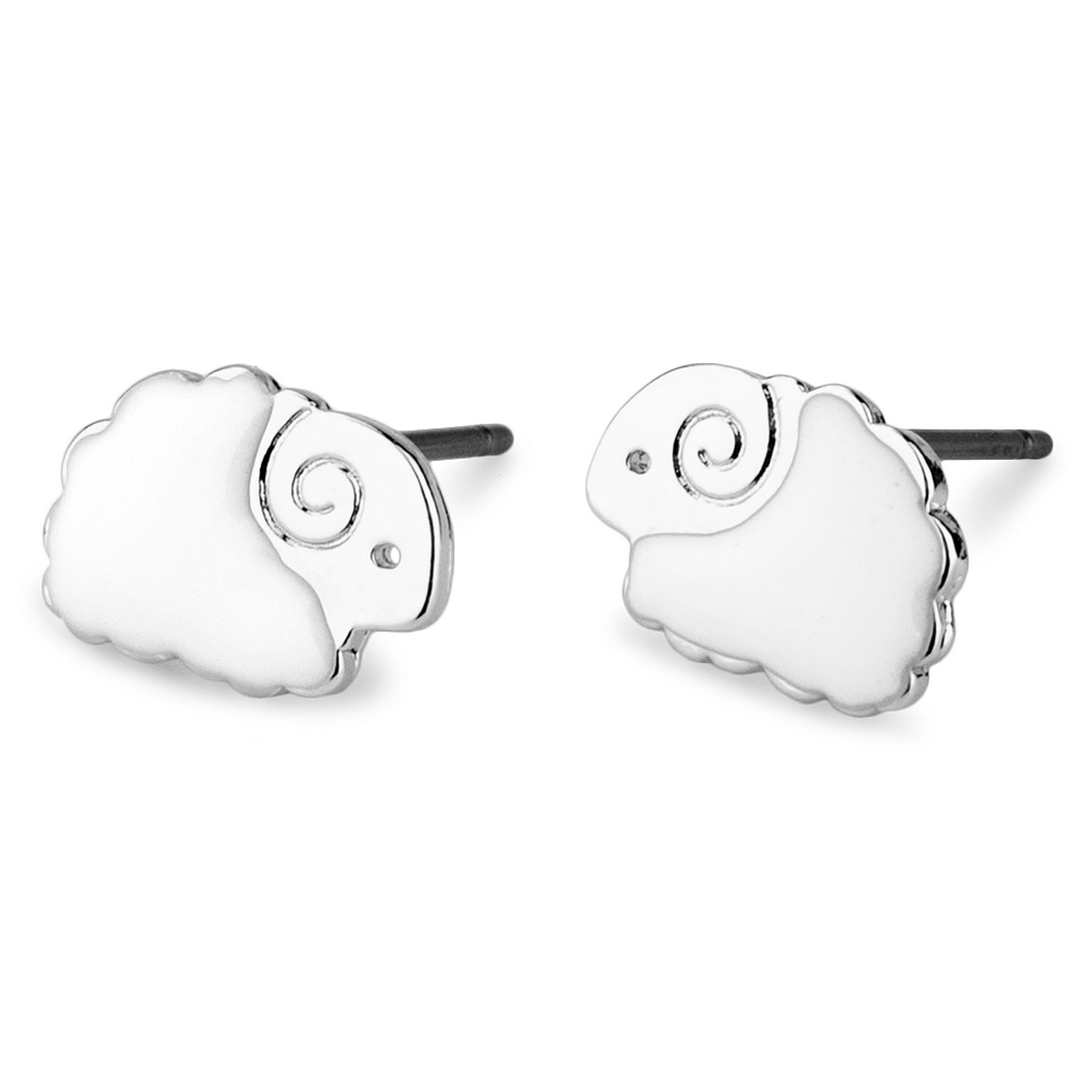 Stud Earring Sheep Made With Tin Alloy & Enamel by JOE COOL