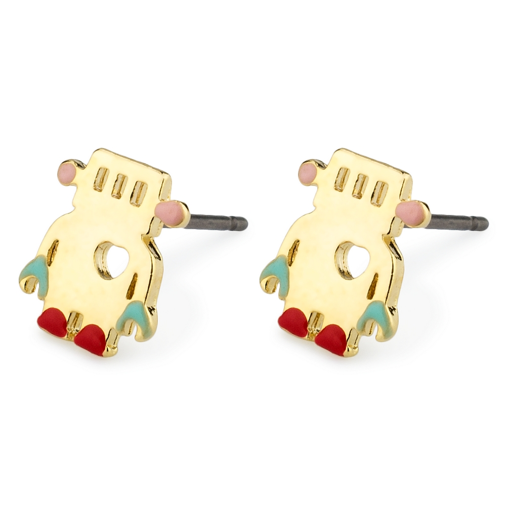 Stud Earring Robot Made With Tin Alloy & Enamel by JOE COOL