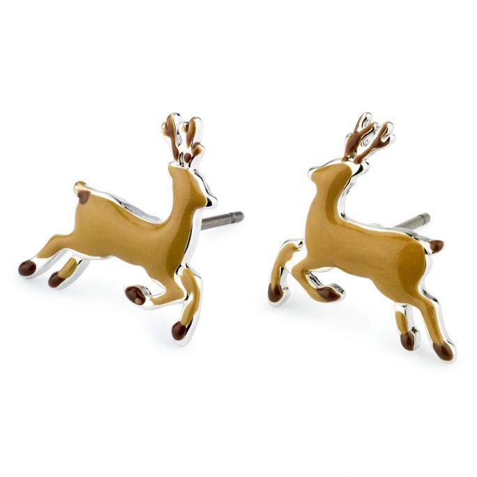 Stud Earring Deer Made With Tin Alloy & Enamel by JOE COOL