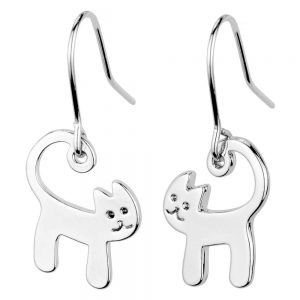 Drop Earring Cat Made With Tin Alloy by JOE COOL