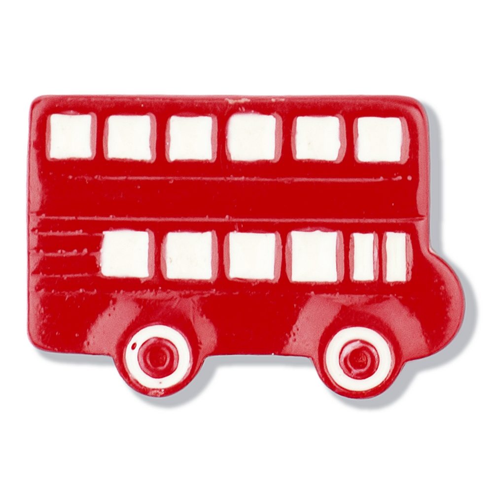 Clutch Pin Brooch London Bus Made With Tin Alloy & Enamel by JOE COOL