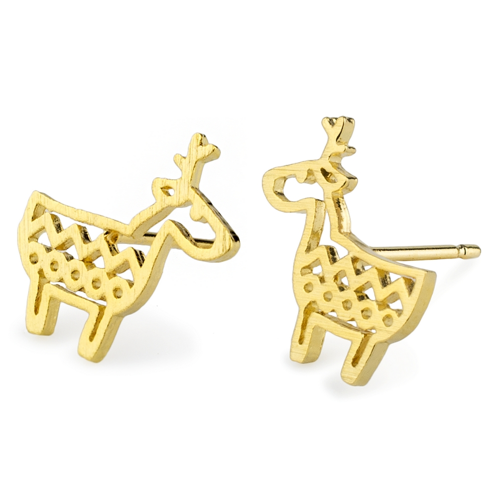 Stud Earring Moose Made With Tin Alloy by JOE COOL