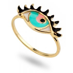 Ring Eye Made With Tin Alloy & Enamel by JOE COOL