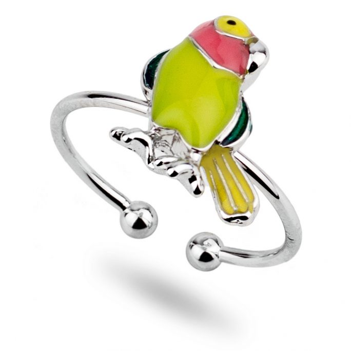 Ring Parrot Made With Tin Alloy & Enamel by JOE COOL