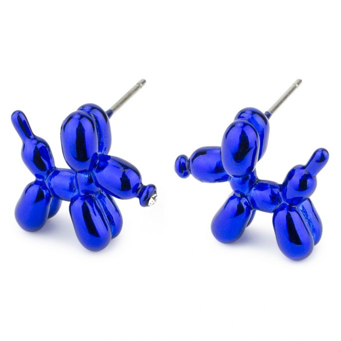 Stud Earring Balloon Dog Made With Tin Alloy & Cubic Zirconium by JOE COOL
