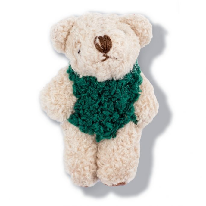 Clutch Pin Brooch Bear In Jumper Made With Tin Alloy & Fabric by JOE COOL