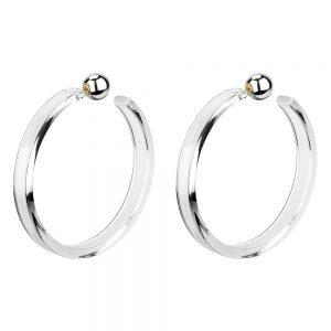 Hoop Earring Sleek Made With Tin Alloy & Acrylic by JOE COOL