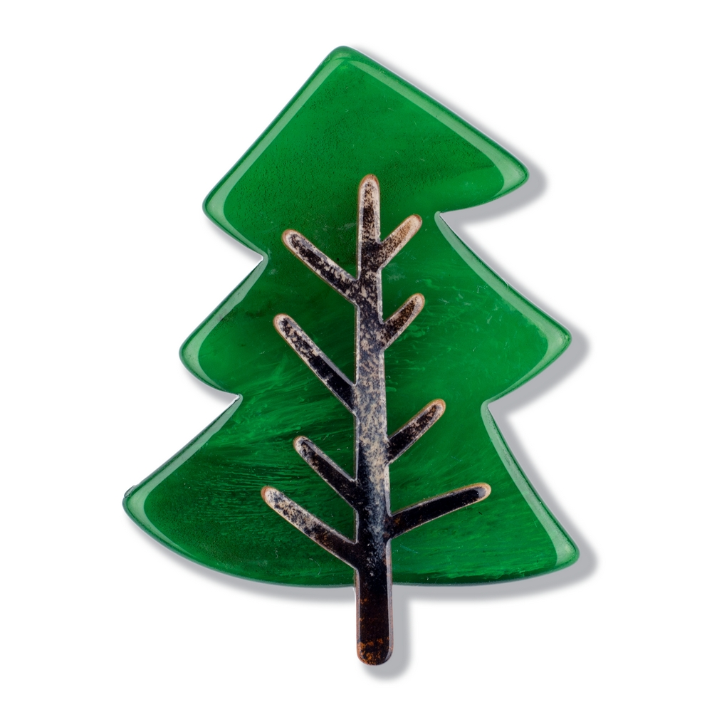 Brooch Evergreen Made With Acrylic by JOE COOL