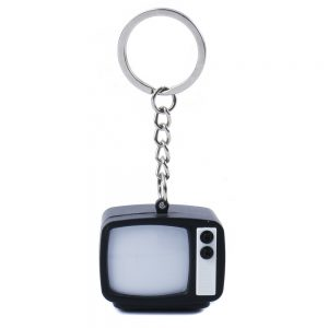 Keyring Noise Television Made With Iron by JOE COOL