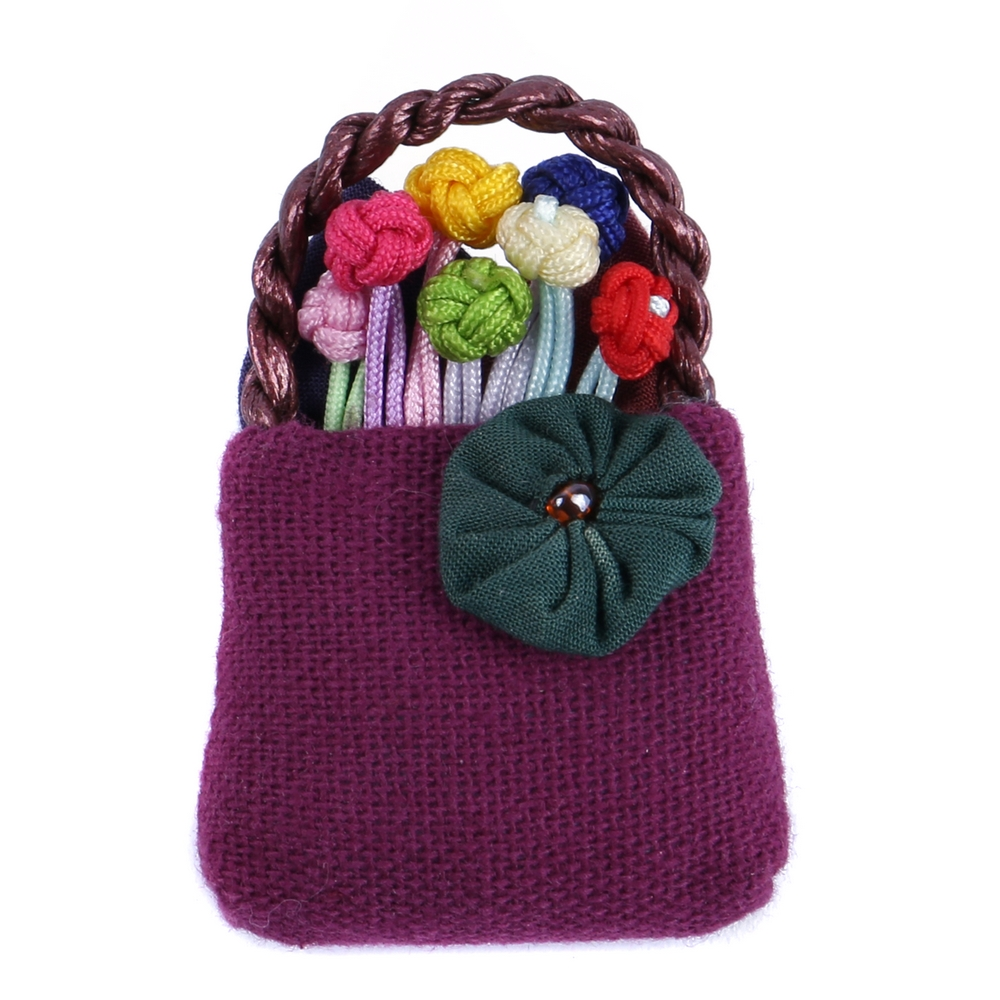 Brooch Flower Basket Made With Cotton & Iron by JOE COOL