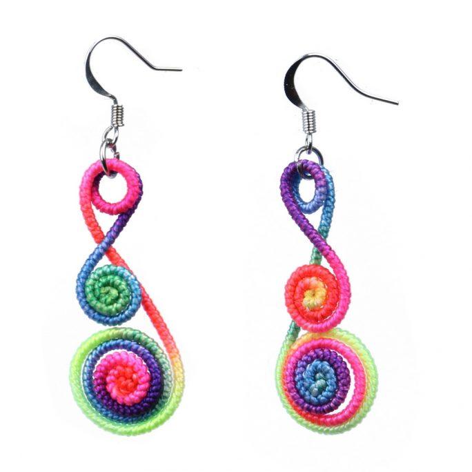 Drop Earring Fiesta Twist Made With Polyester by JOE COOL