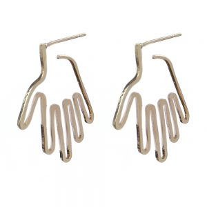 Stud Earring Clever Hands Made With Copper by JOE COOL
