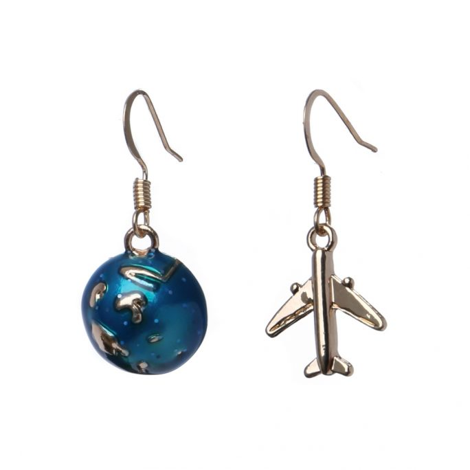 Drop Earring World Traveller Made With Copper & Tin Alloy by JOE COOL
