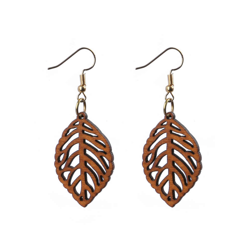 Drop Earring Enchanted Forest Made With Wood & Iron by JOE COOL