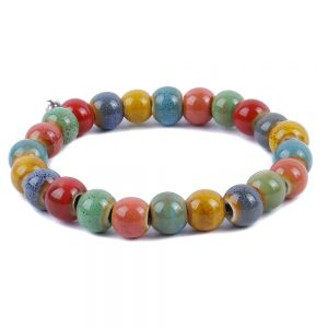 Bracelet Earth Shades 10mm Made With Ceramic by JOE COOL