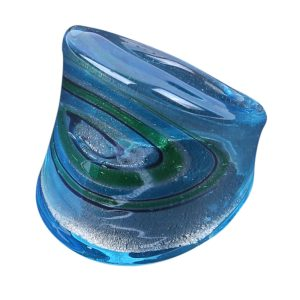 Ring Ocean Colour Made With Glass by JOE COOL