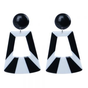 Stud & Drop Earring 2 Tone Wide Burst Made With Resin by JOE COOL