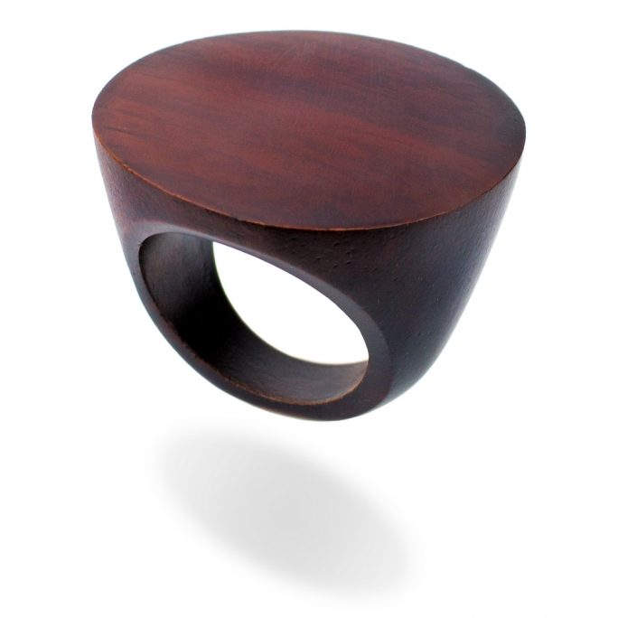 Ring Large Disc Made With Wood by JOE COOL