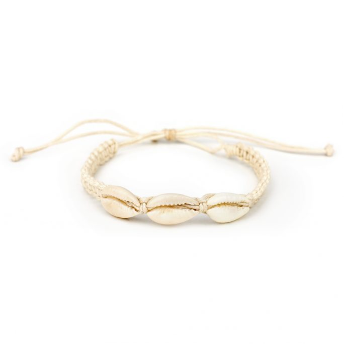 Bracelet Seashore Made With Cord & Cowrie Shell by JOE COOL