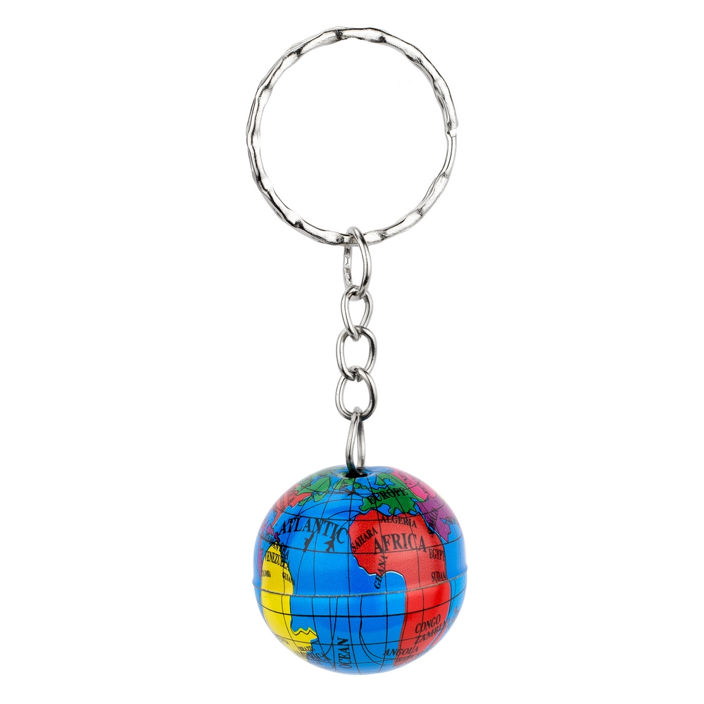 Keyring Printed Globe Made With Tin Alloy by JOE COOL