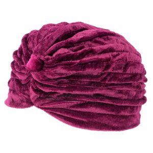 Hat Crimson Strip Made With Velvet & Polyester by JOE COOL