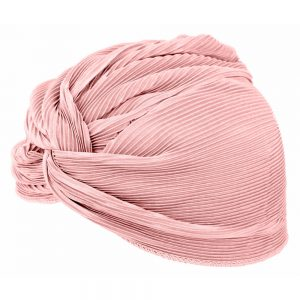 Hat Pearl Rose Ribbed Twist Made With Polyester by JOE COOL