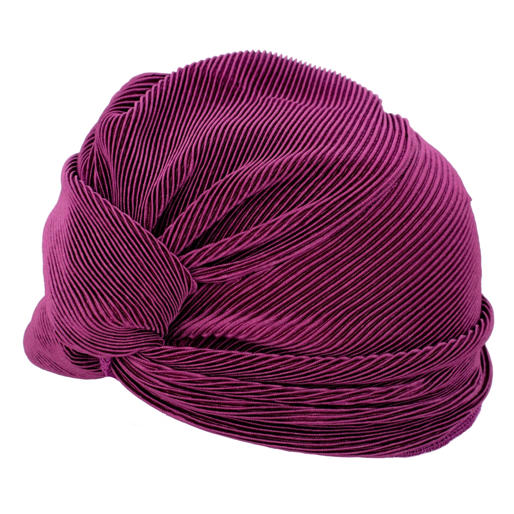 Hat Crimson Ribbed Twist Made With Polyester by JOE COOL