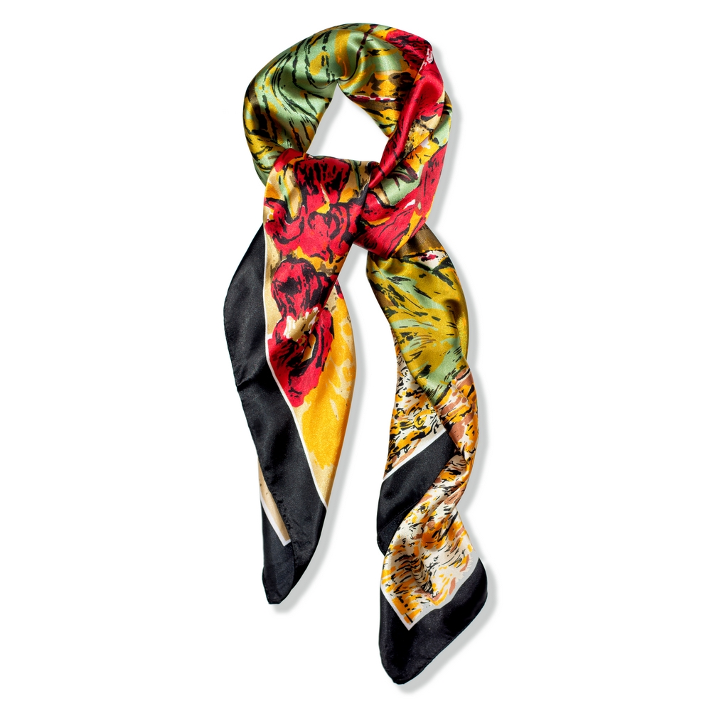 Scarf Floral Burst Made With Silk & Polyester by JOE COOL