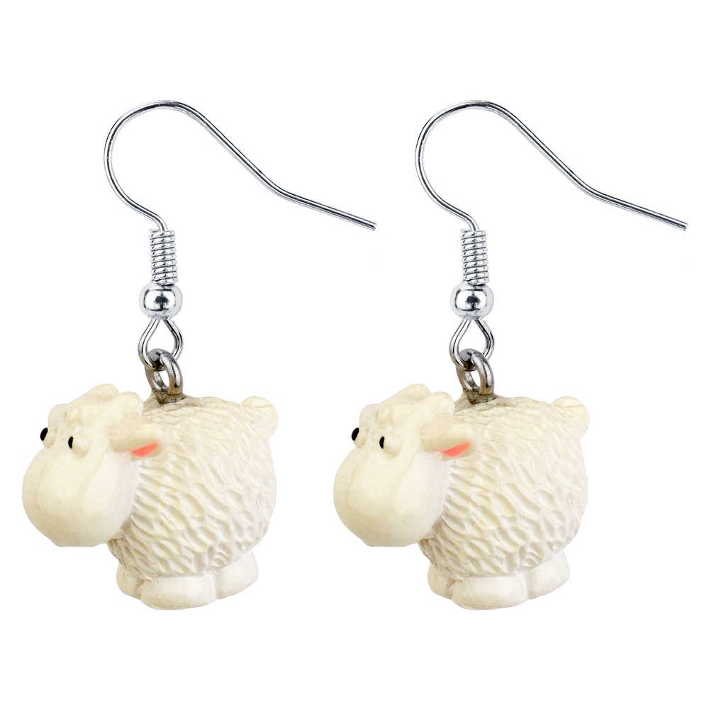 Drop Earring Sheep Made With Resin by JOE COOL