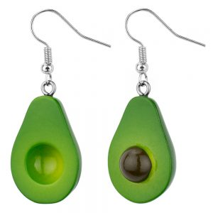 Drop Earring Avocado Made With Resin by JOE COOL
