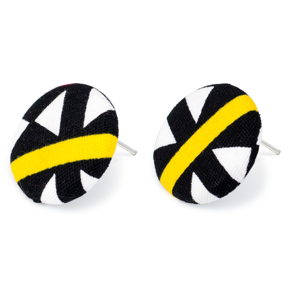 Stud Earring Geometric Made With Cotton by JOE COOL
