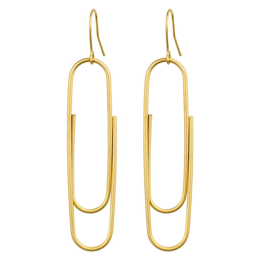Drop Earring Maxi Paperclip Made With Tin Alloy by JOE COOL
