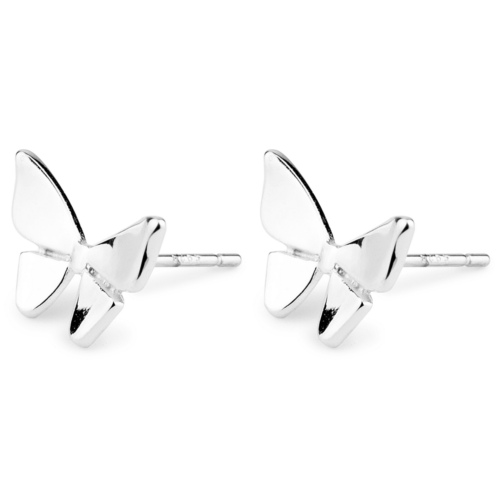 Stud Earring Mini Butterfly Solid Made With Tin Alloy by JOE COOL