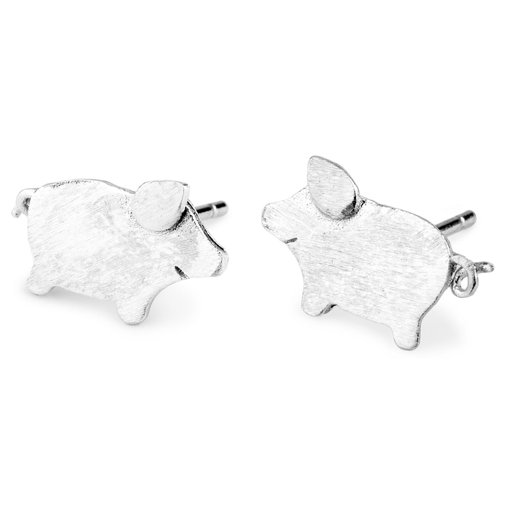 Stud Earring Mini Pig Made With Tin Alloy by JOE COOL