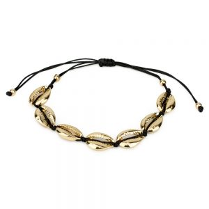 Bracelet Cowrie Shell Made With Tin Alloy & Thread by JOE COOL