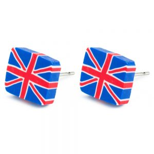 Stud Earring Union Jack Made With Tin Alloy by JOE COOL