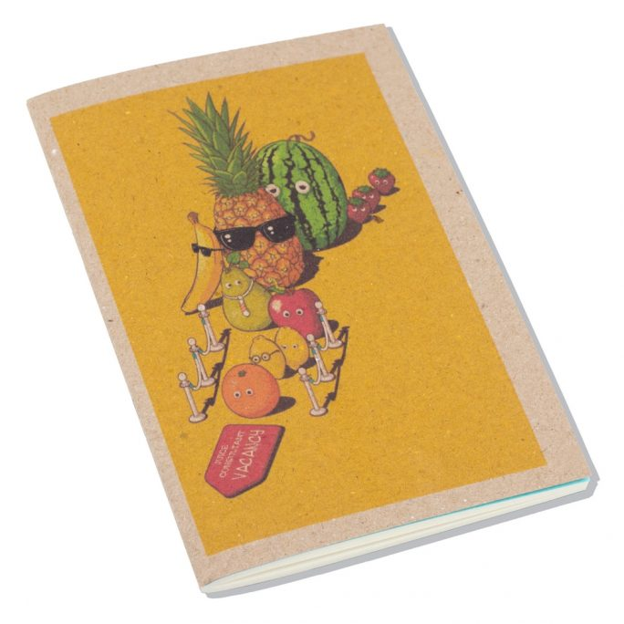 Notebook Tropical Fruit Made With Paper by JOE COOL